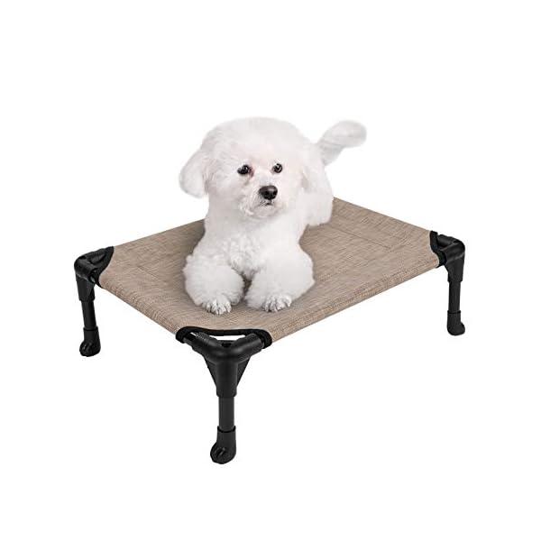 413lYQWnYAL Veehoo Kühl Erhöhte Hundebett, Hundeliege Outdoor für Klein, Mittelgroße, Grosse Hunde, aus Waschbar & Dauerhaft…