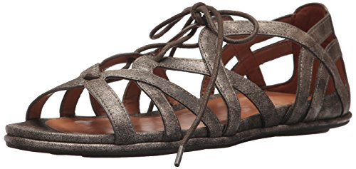 Scuro Sandalo Donne Marrone up Lace Piatto Orly Anime Gentili Delle 6qAC1