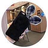 Fashion Cloth Rabbit Ear Plush Ball Furry Fur Mobile Phone Case for iPhone,1,