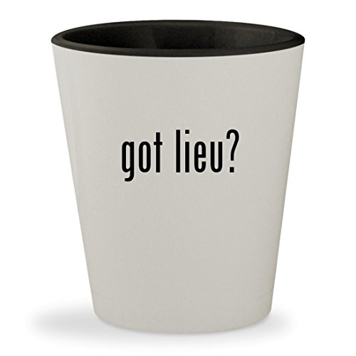 Khien Ceramics (got lieu? - White Outer & Black Inner Ceramic 1.5oz Shot Glass)