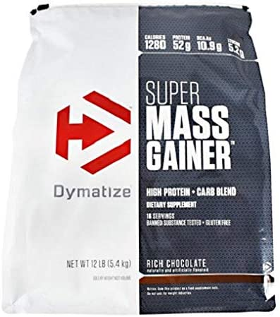 Dymatize Super Mass Gainer, Rich Chocolate, 12 Pound