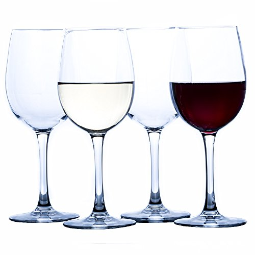 Elegant Plastic Wine Glasses by Savona | Unbreakable Wine Glasses | Ideal for Indoor/Outdoor Use | 100% Tritan Shatterproof Wine Glasses | Set of 4)