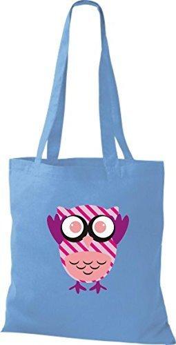 Shirtinstyle - Cotton Fabric Bag Women - Light Blue