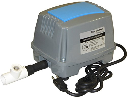 Bracys A-1 Septic Blue Diamond ET60 Septic Linear Air Pump w/Back Pressure Safety Valve (Maximizes Aerator Service Life) NEW LISTING!!!
