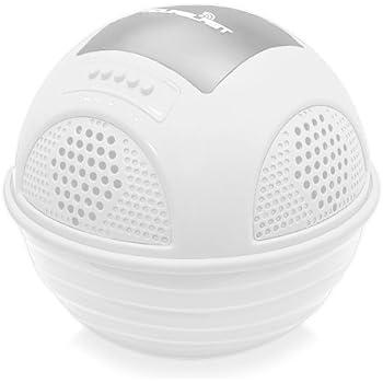 Pyle pwr90dwt aqua blast waterproof bluetooth floating pool speaker system with for Waterproof speakers for swimming pools