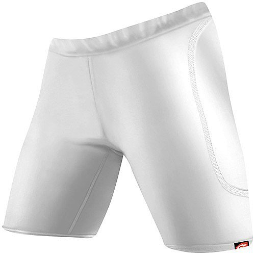 (WSI Women's Microtech Slider Shorts, White, Medium)