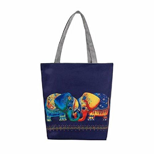 Para Mochila Lona Elefante Baratos Mujer Impresión QUICKLYLY Multiusos B de Hombro Niñas de Bolsa Bolsa De Movil FnqWCSx7