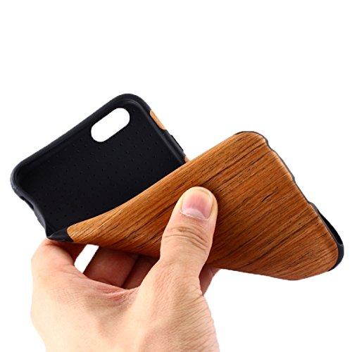 Phone Taschen & Schalen Für iPhone 6 Plus & 6s Plus Walnuss Holz + PU Material Schutzhülle ( SKU : S-IP6P-0659C )