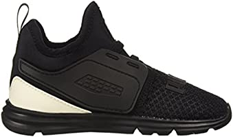 178c91e7eb6f3 PUMA unisex-baby Limitless 2 AC Wide Inf Sneaker, Black White, 4 W ...