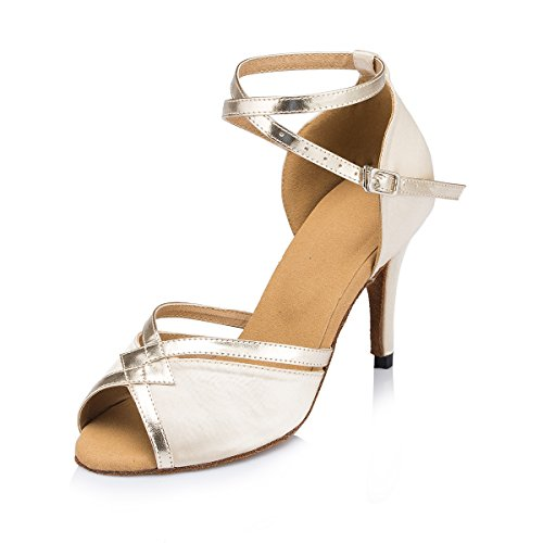 Satin Peep Dance Toe Nude Wedding 8 Sandals Miyoopark Salsa 5cm Stylish Performance Latin Shoes Heel Ladies Prom w4xCq0t