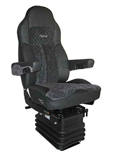Seat Track Plate (Legacy Silver Air-ride Seat | Two Tone- Black DuraLeather & Diamond Plate Gun Metal with D2 Technology)