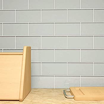 Glass Subway Tile by Giorbello - Light Gray- Single Tile