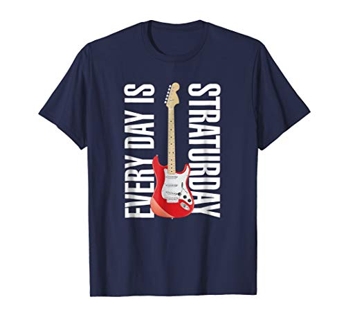Musician T-Shirt Electric Guitar Rock and Roll Straturday