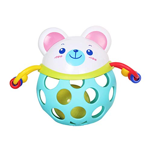 ERLOU Educational Toy Children Cute Skip Hop Explore and More Roll Around Rattle Toy Baby Rattle Toy Toddler Teether Boys Girls Gifts (B)]()