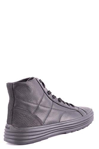 Hogan Mannen Mcbi148480o Zwart Lederen Hi Top Sneakers