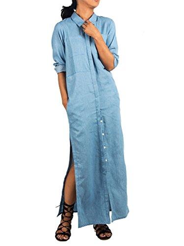Buy maxi dress and denim shirt - 4