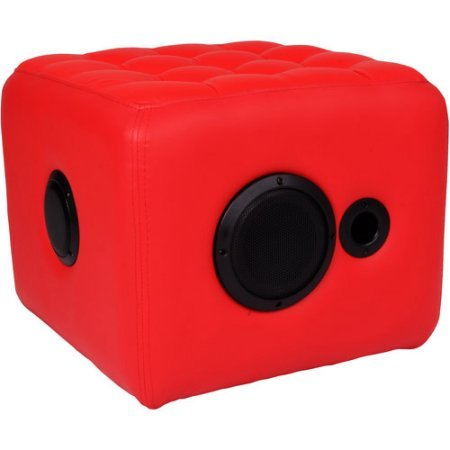Ottoman Cube Speaker, Red by Techni Mobili
