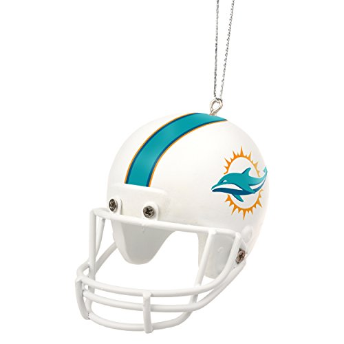 Miami Dolphins Official NFL Holiday Christmas Ornament Resin Helmet