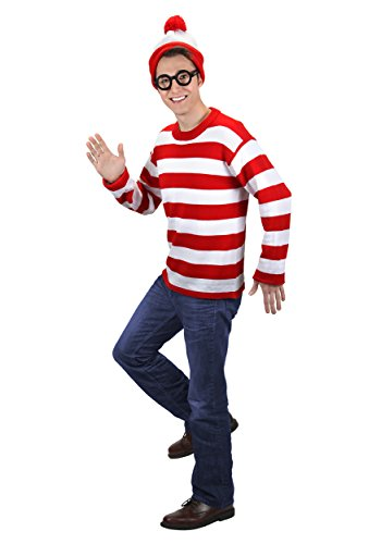 Adult Deluxe Where's Waldo Costume Medium