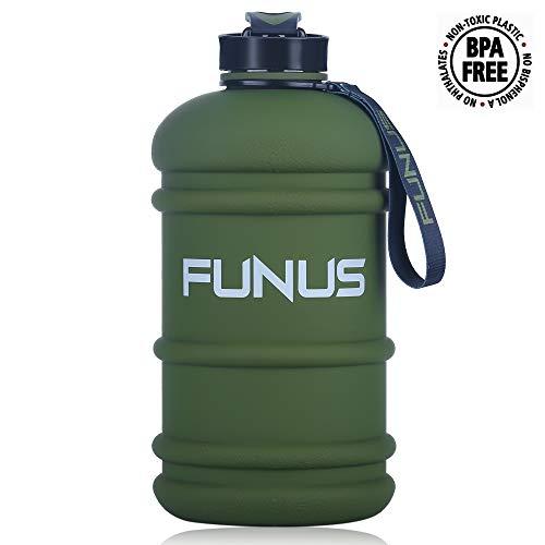 2.2L Large Water Bottle BPA Free Leak Proof Reusable Odorless Big Capacity Water Jug for Men Women Fitness Gym Outdoor Climbing Sports Water Bottle (2.2L Rubber Coating Purple) ()