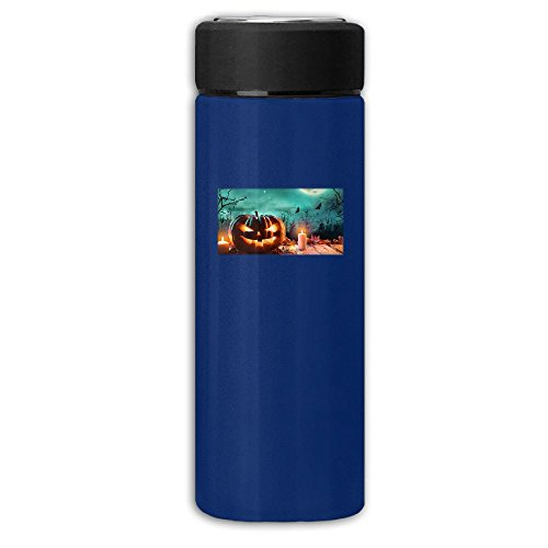 Musique Halloween Qui Fait Peur Mix 12 Oz Vacuum Cup Stainless Steel Frosted Travel Mug With Tea Leaf Filter,Navy Commercial Vacuum Jug