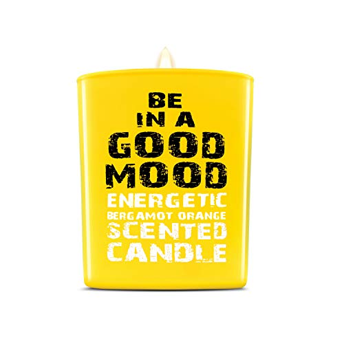 Be in a Good Mood Aromatherapy Candles | Premium Scented Candles | Each Candle Set is Crafted with Perfection - Candle Jars, Hand Poured with Non-Toxic Mineral Wax & Cotton Wick (Bergamot Orange) (Feel Good Aromatherapy)