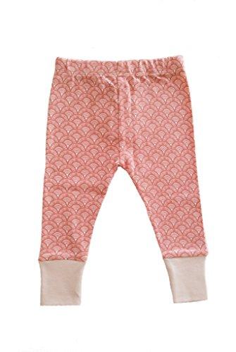 Organic Printed (Parade Organics Printed Leggings Pink Fans 0-3 Months)