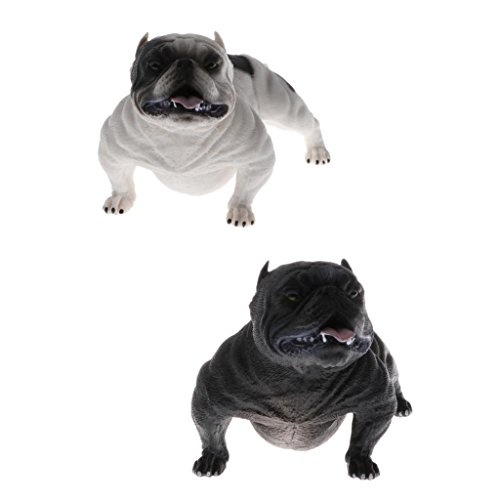 Homyl 2pcs Wild American Bully Pitbull Dog Animals Figure Toys Realistic Action Models Kids Educational Cognitive Statues Toy Home ()