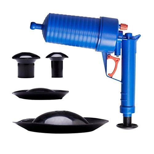 Compressed Air Drain Blaster, Keepfit Air Pressure Pump Drain Cleaner Unclogs Plunger Remover Toilets Bathroom Kitchen Cleaner