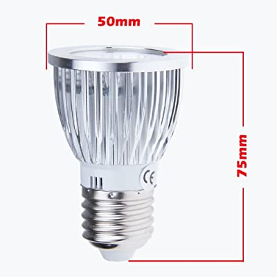 Lemonbest® Energy Saving Epistar 9 Watts E27 COB LED Spotlight Bulb Downlight Lamp Flood 60 Degree 110V, Cool White
