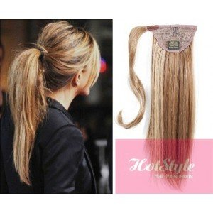 Amazon hotstyle clip in human hair ponytail wrap hair hotstyle clip in human hair ponytail wrap hair extension 20quot straight mixed blonde pmusecretfo Image collections