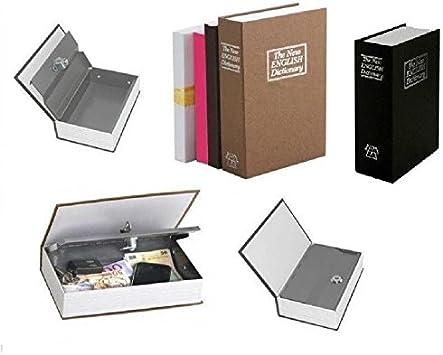 Caja fuerte de seguridad falso libro pequeño monedero y hucha + 2 llaves: Amazon.es: Bricolaje y herramientas