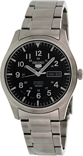 Seiko 5 AutomaticBlack Dial Stainless Steel Mens Watch - Stores Watchshop