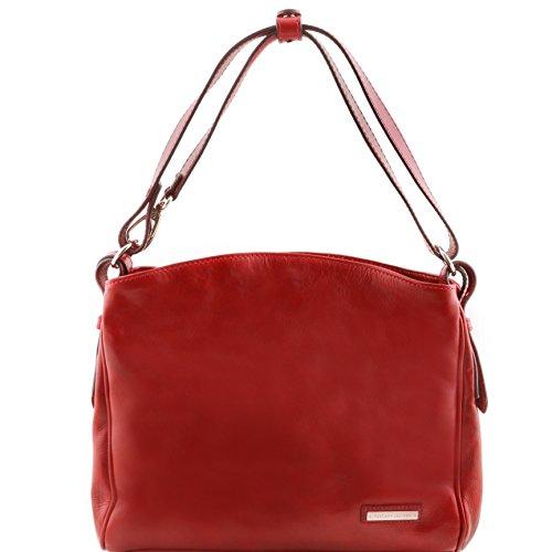 Tuscany Leather Sara - Borsa a tracolla in pelle - TL141474 (Testa di Moro) Rosso