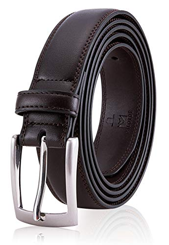 Belts for Man, Fashion & Classic Design for Dress and Causal (Size 32 (Waist 30), Sup Dark Brown)