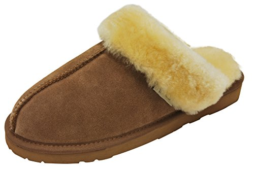SLPR Women's Sheepskin Fernie Slipper (8, Camel)
