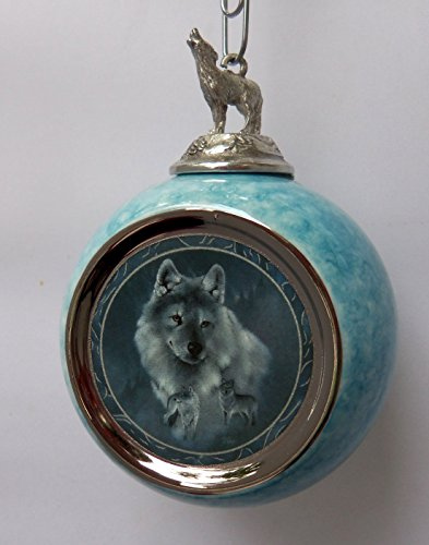 (The Bradford Editions Silver Scout Wolf Ornament')