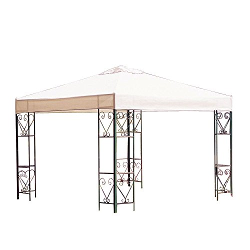 Koval Inc. All Weather 10' X 10' Ft Garden Gazebo Replacement Canopy Top Ivory free shipping