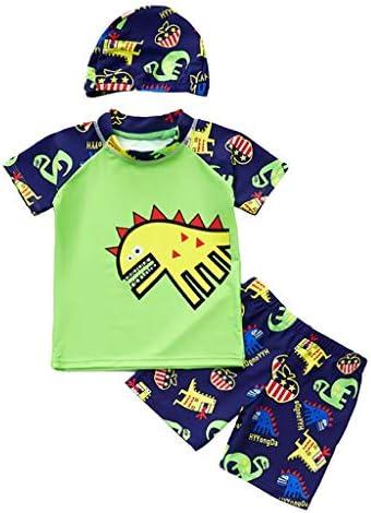 恐竜柄 ボーイズ水着 フィットネス水着 スイミング服 スイム服 水泳服 日焼け止 水陸両用 全6サイズ3色