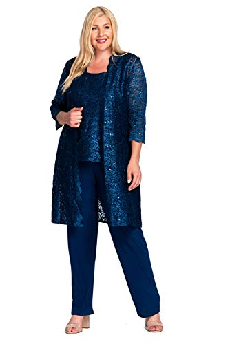 R&M Richards Mother of The Bride Plus Size Pant Suit (R & M Richards Dresses Mother Of Bride)
