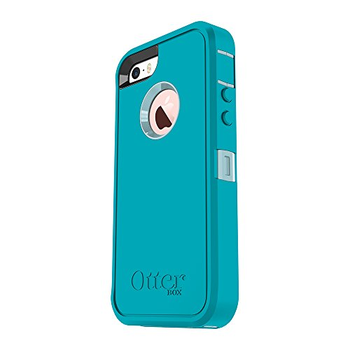 Amazon.com  OtterBox DEFENDER SERIES for iPhone 5 5s SE - Frustration Free  Packaging - MORNING MIST (BAHAMA BLUE LIGHT TEAL)  Cell Phones   Accessories f4129fa7f
