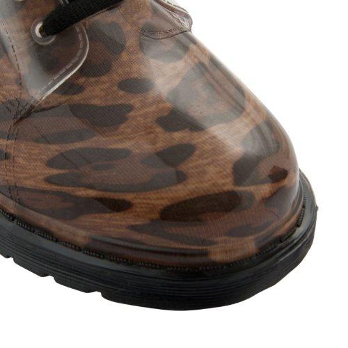 Footwear Sensation - Botas para mujer púrpura morado púrpura - Tan Leopard