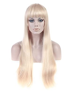 Convenient and simple pretty Lady Gaga Wig Long Straigt BLonde Fashion Women Wigs