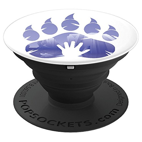 Bear Paw Print And Human Hand Print In The Forest - PopSockets Grip and Stand for Phones and (Black Forest Cake Video)