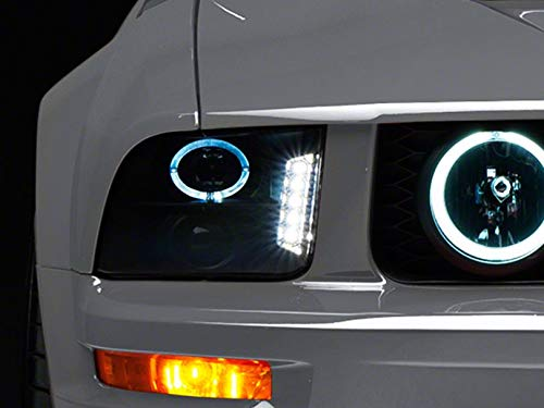 Raxiom Smoked Projector Headlights - LED Halo - for Ford Mustang GT and V6 2005-2009