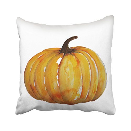 Accrocn Halloween Watercolor Pumpkin Throw Pillow Covers Cushion Cover Case 20x20 Inches Pillowcases One Sided