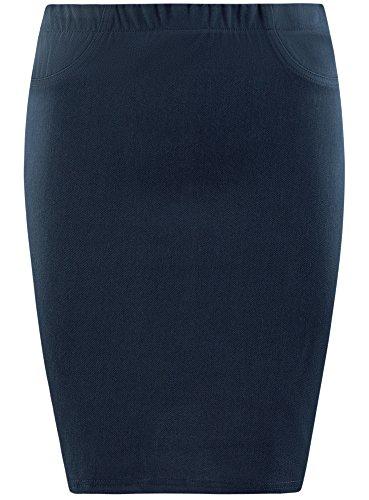 7900n Blu Collection Gonna Maglia a Donna in oodji Tubino WxF8wq6T11