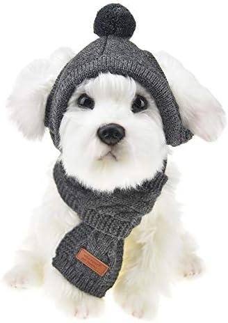 Winter Pet Scarf Set Matching Dog Scarf Set Fleece Dog Scarf Dog And Owner Gift Dog And Owner Scarf Set Matching Infinity  Scarf Set