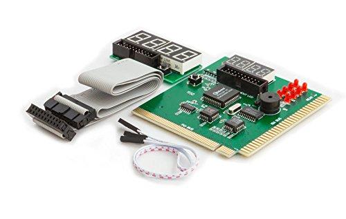 Kingwin PC Computer Motherboard Analyzer Kit [Digital PCI & ISA PC SDRAM NA Motherboard]. 4 Digit PCI & ISA PC Tester, Diagnostic Debug Post Card External Display (CMBA-4) (Test Diagnostic Card Post)