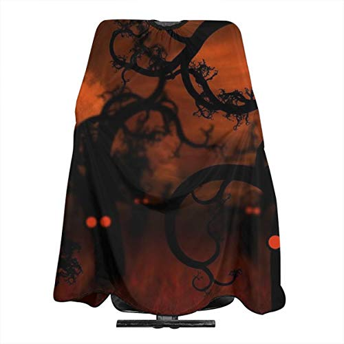 VIVIAN RICE Professional Salon Hair Cut Cape,Apron with Adjustable Snap Closure,Hairdressers and Barbers Happy Halloween,Easy Clean,Lightweight